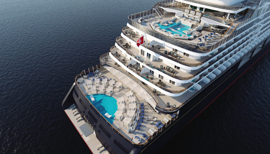 Explora I Aft View - Two Outdoor Pools, Cabanas & Top Suites